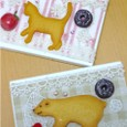 猫クッキーとしろくまクッキーのカードケース